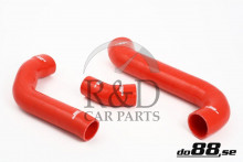 30680118, 30794304, 8649763, 8649765, Volvo, C30, C70, S40, V50, Motor, Koeling, Intercooler, Performance, Tuning, Intercoolerslangenset, Silicone, Rood, C30/c70/s40/v50, Turbo, 04-13